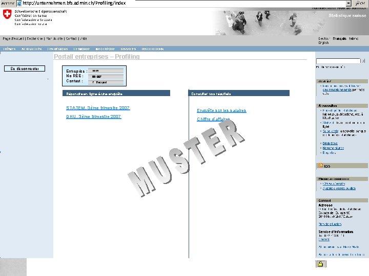 http: //unternehmen. bfs. admin. ch/Profiling/index Federal Department of Home Affairs FDHA Federal Statistical Office