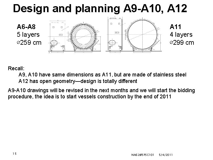 Design and planning A 9 -A 10, A 12 A 6 -A 8 5
