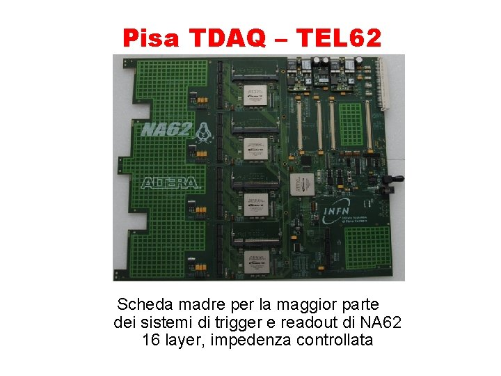 Pisa TDAQ – TEL 62 Scheda madre per la maggior parte dei sistemi di