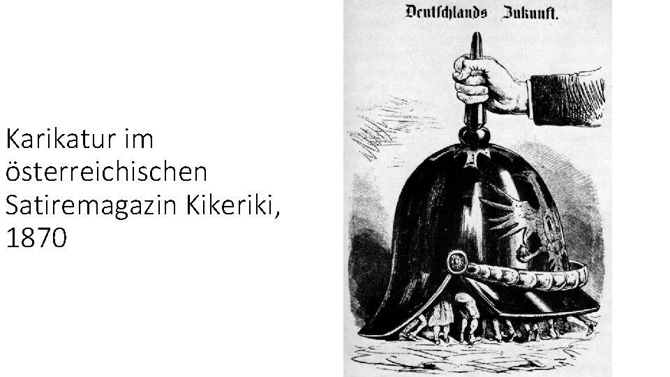 Karikatur im österreichischen Satiremagazin Kikeriki, 1870