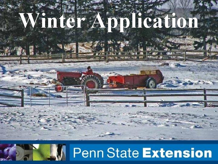 Winter Application