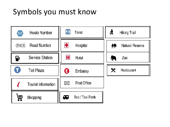 Symbols you must know