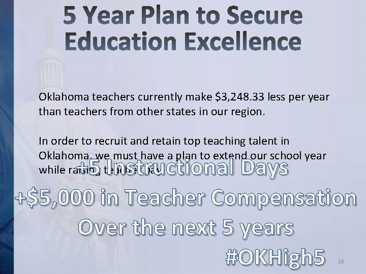 Oklahoma teachers currently make $3, 248. 33 less per year than teachers from other