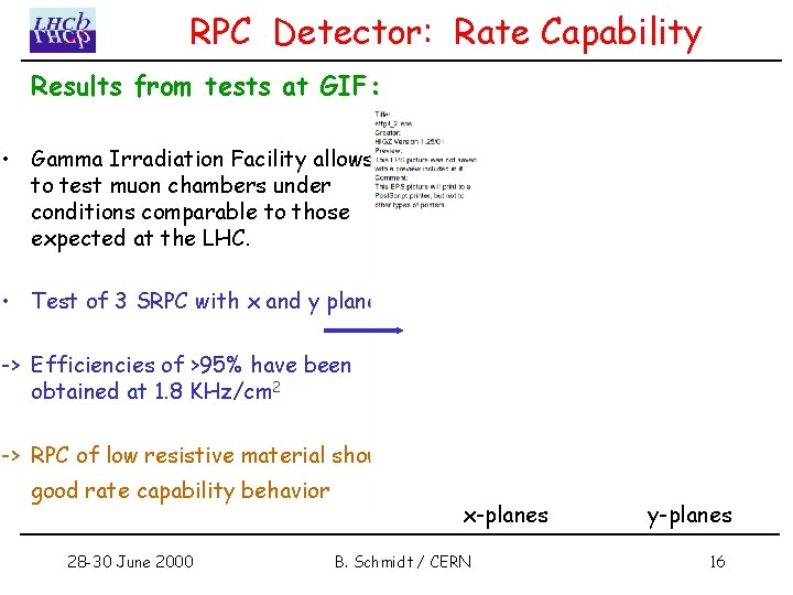 RPC Detector: Rate Capability Results from tests at GIF: • Gamma Irradiation Facility allows
