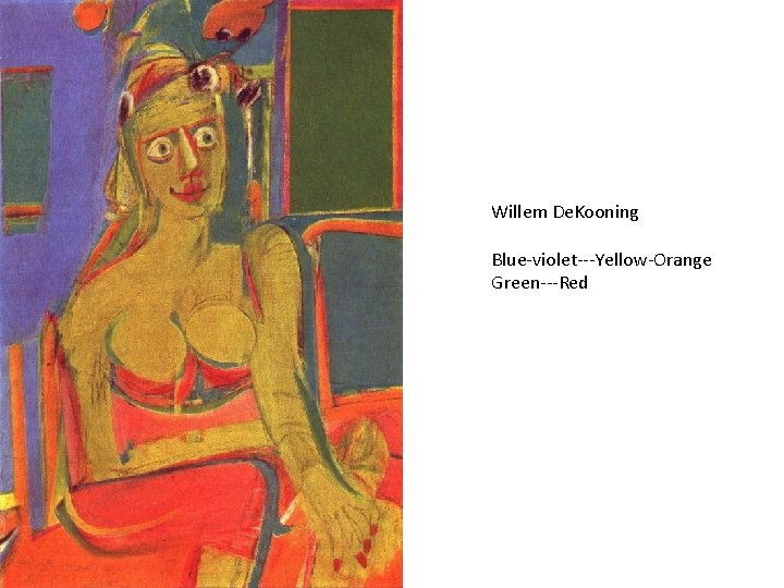 Willem De. Kooning Blue-violet---Yellow-Orange Green---Red