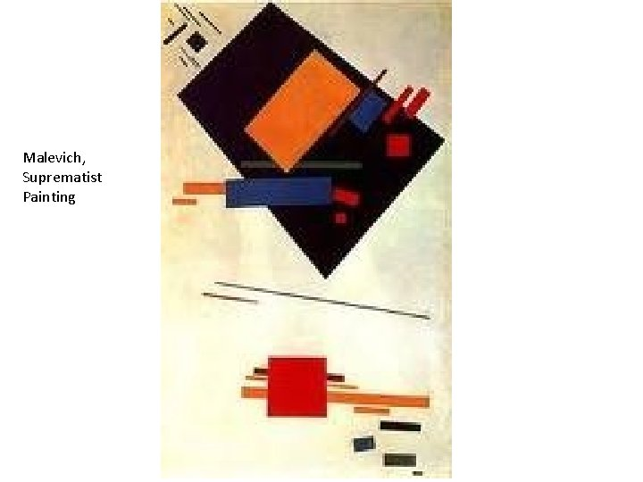 Malevich, Suprematist Painting