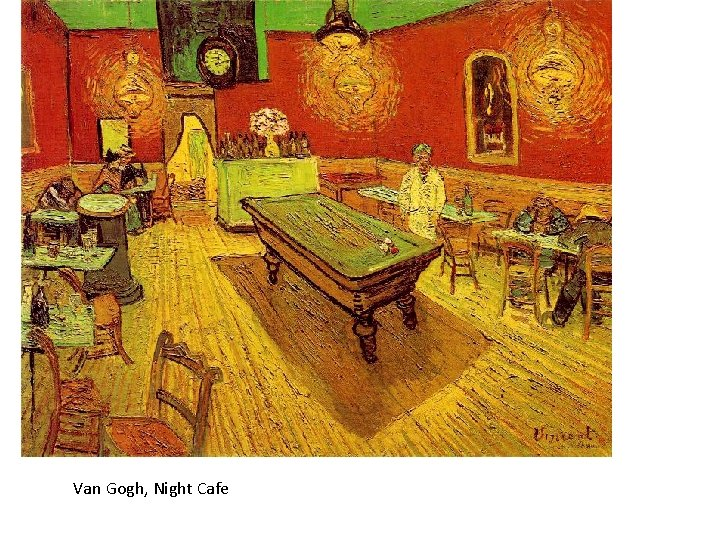 Van Gogh, Night Cafe