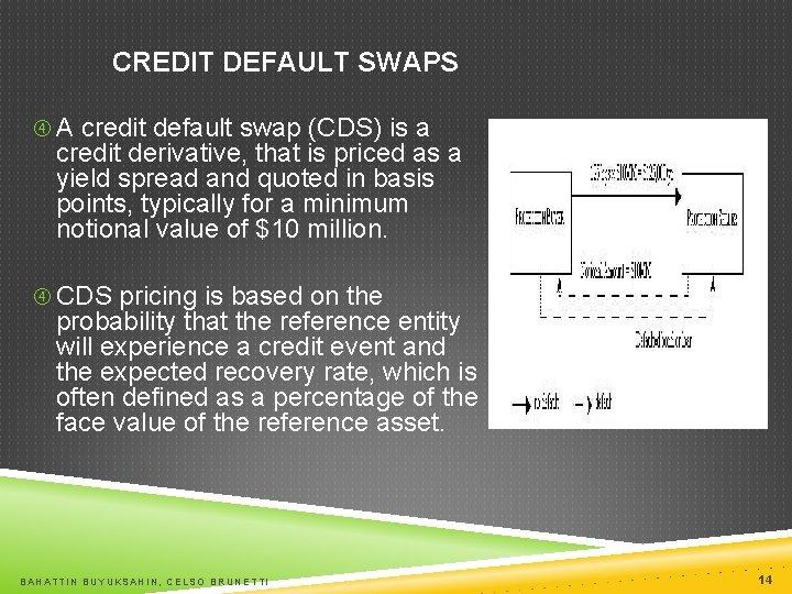 CREDIT DEFAULT SWAPS A credit default swap (CDS) is a credit derivative, that is