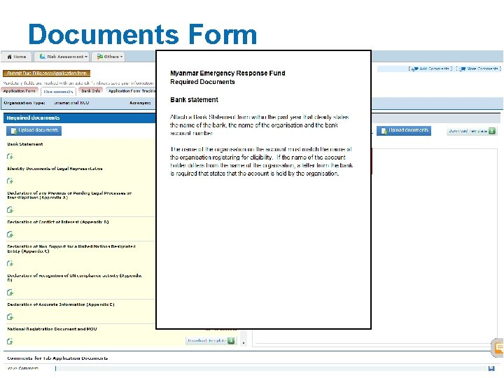 Documents Form Click to download instructions cbpf. unocha. org 19