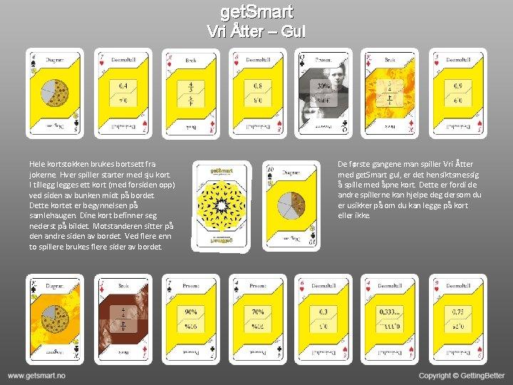 get. Smart Vri Åtter – Gul Hele kortstokken brukes bortsett fra jokerne. Hver spiller