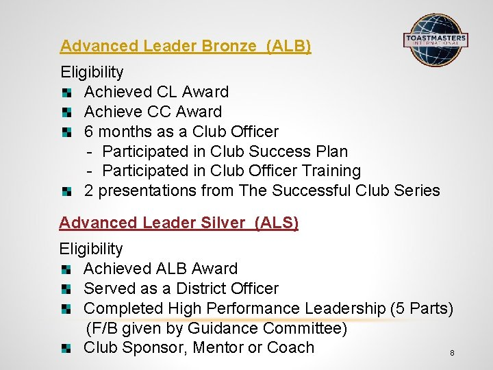 The Successful Club Series Toastmasters Educational Program Jenny