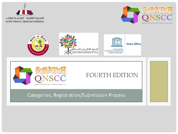 FOURTH EDITION Categories, Registration/Submission Process