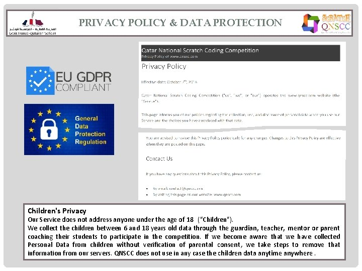 PRIVACY POLICY & DATA PROTECTION Children's Privacy Our Service does not address anyone under