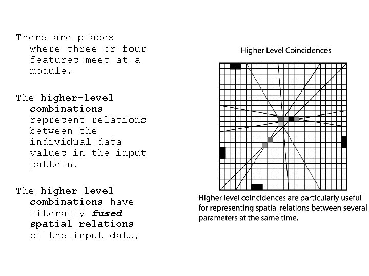 There are places where three or four features meet at a module. The higher-level