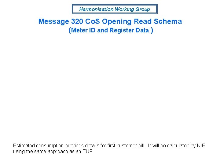 Harmonisation Working Group Message 320 Co. S Opening Read Schema (Meter ID and Register