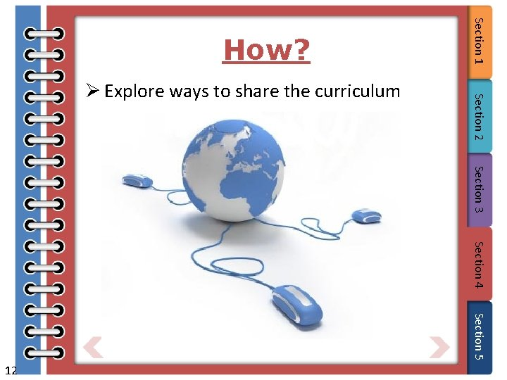 Section 3 Section 4 Section 5 12 Section 2 Ø Explore ways to share