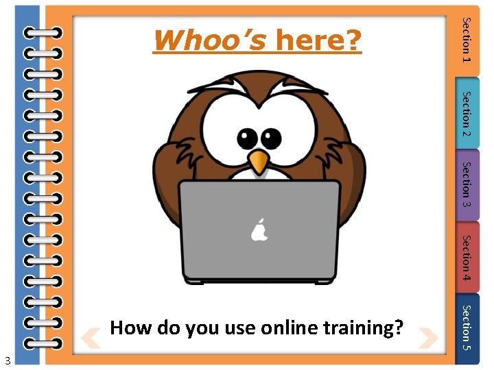Section 2 Section 3 Section 4 3 Section 5 How do you use online