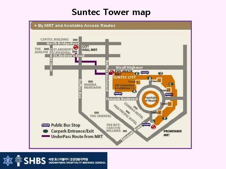Suntec Tower map