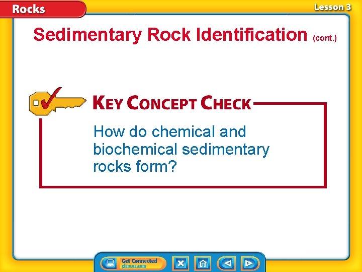 Sedimentary Rock Identification (cont. ) How do chemical and biochemical sedimentary rocks form?