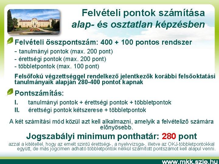 egyetemi felvételi jövőkép)