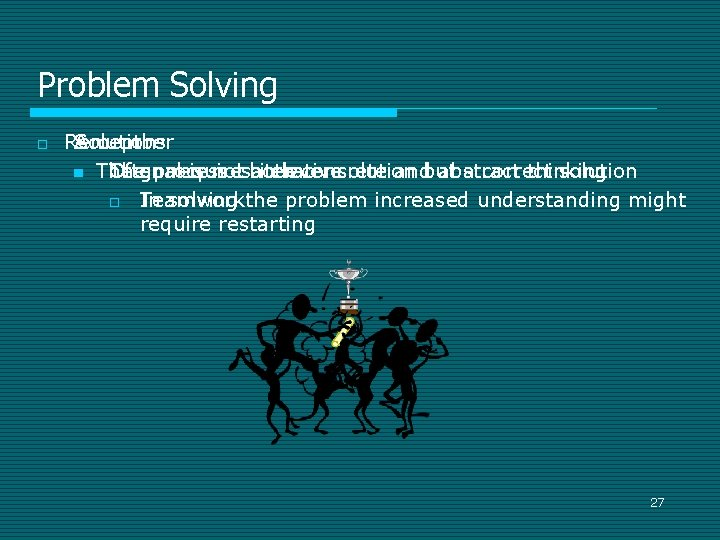 Problem Solving o Remember Accept Solutions n Thegoal Often process require is notisboth aiterative