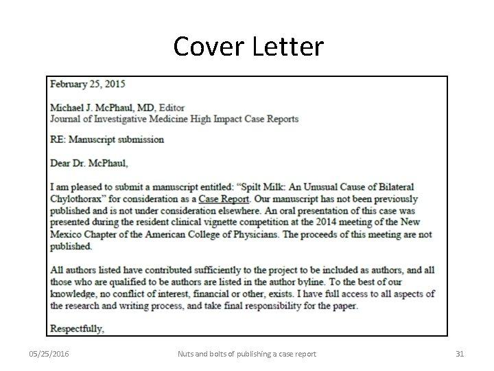 Cover Letter Medical Manuscript Topmost Pictures Modern