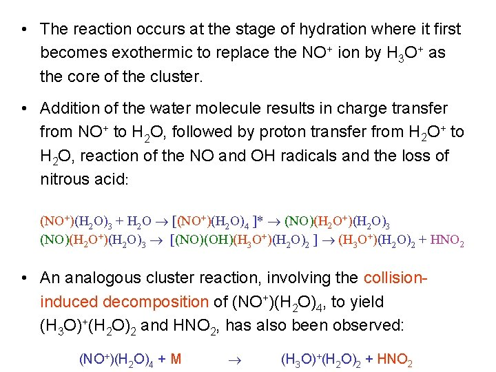 • The reaction occurs at the stage of hydration where it first becomes