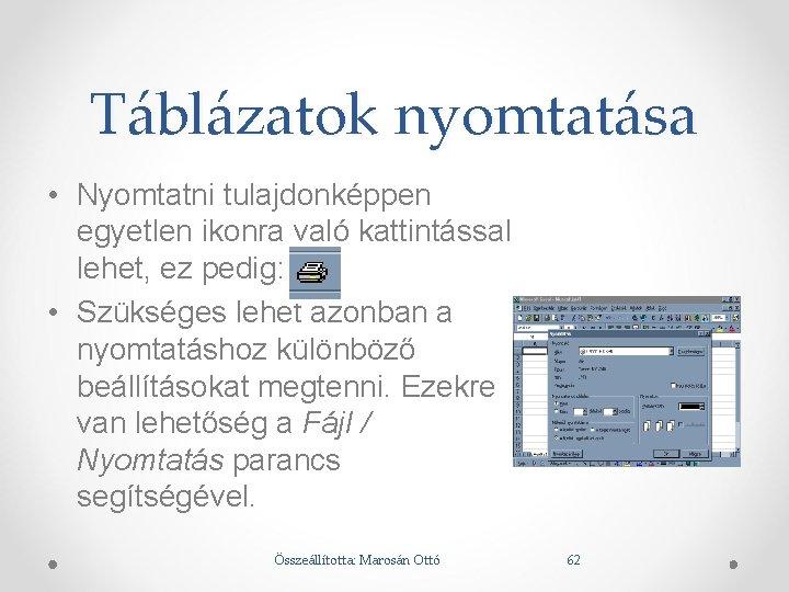 táblázat vizsgálati nyomtatáshoz)