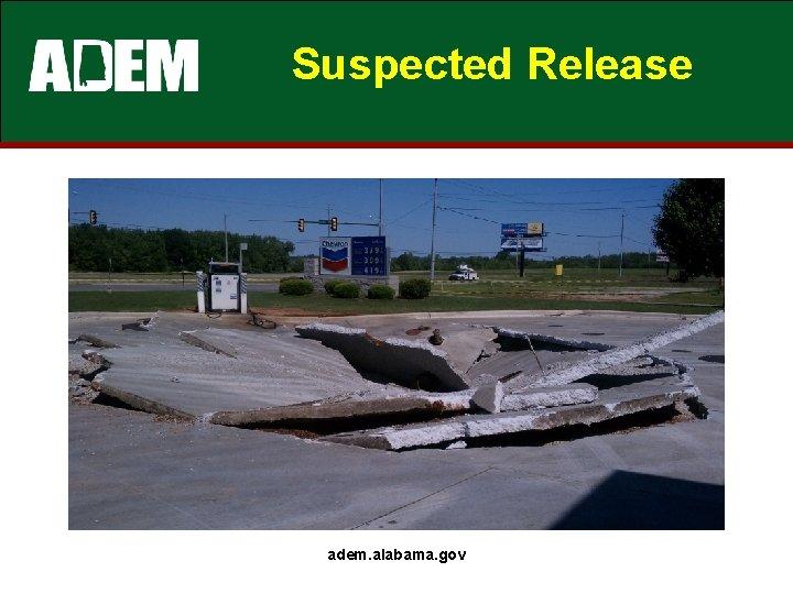 Suspected Release adem. alabama. gov