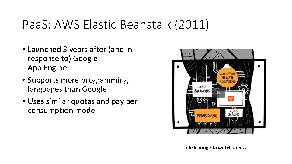 Paa. S: AWS Elastic Beanstalk (2011) • Launched 3 years after (and in response