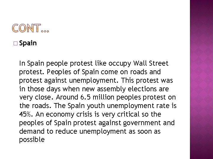 � Spain In Spain people protest like occupy Wall Street protest. Peoples of Spain