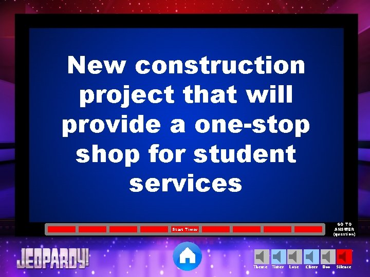 New construction project that will provide a one-stop shop for student services GO TO