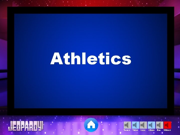 Athletics Theme Timer Lose Cheer Boo Silence