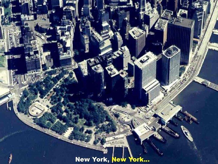 New York, New York. . .