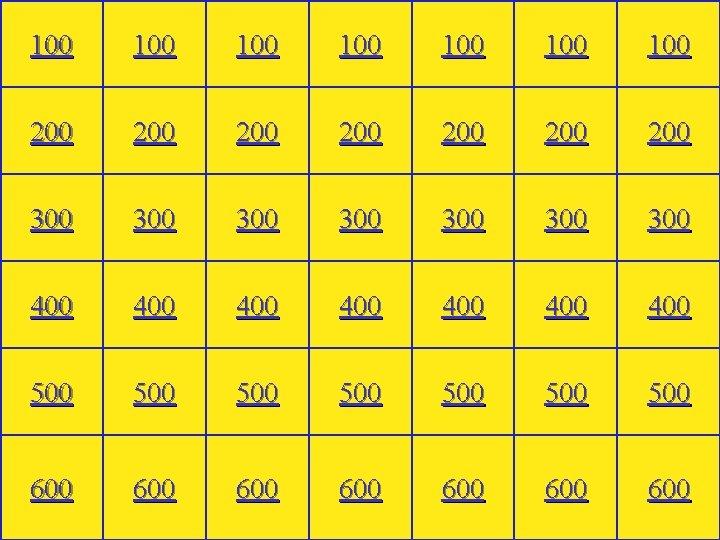100 100 200 200 300 300 400 400 500 500 600 600