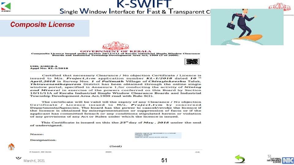 Composite License March 6, 2021 51 51