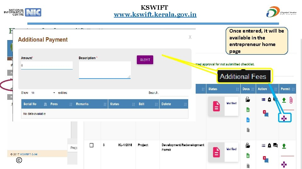 KSWIFT www. kswift. kerala. gov. in How to upload permit? Once entered, it will