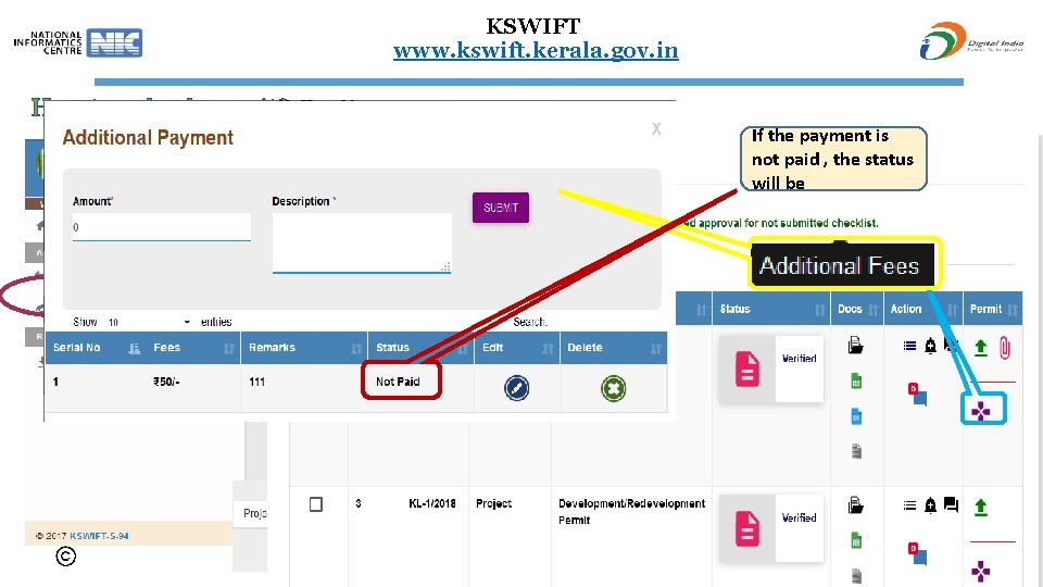 KSWIFT www. kswift. kerala. gov. in How to upload permit? If the payment is