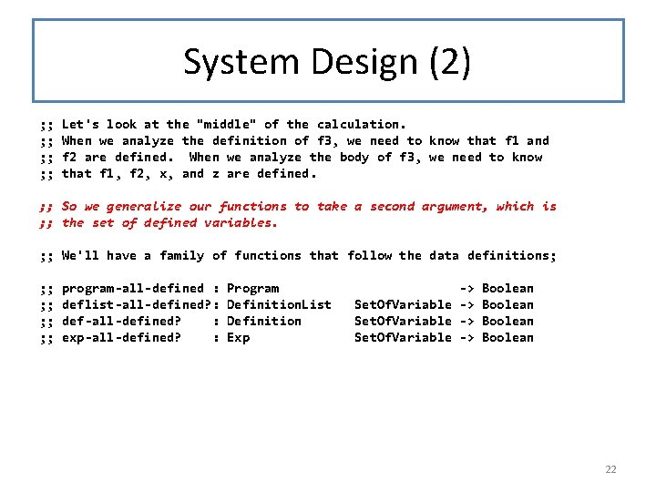 """System Design (2) ; ; ; ; Let's look at the """"middle"""" of the"""
