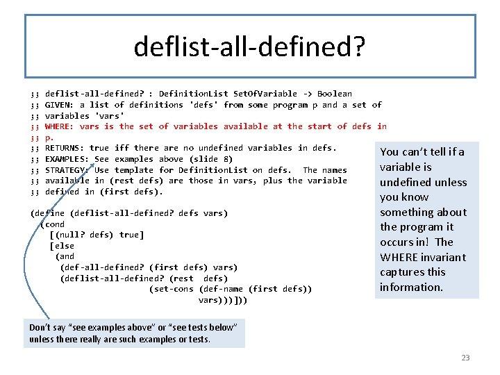 deflist-all-defined? ; ; ; ; ; deflist-all-defined? : Definition. List Set. Of. Variable ->