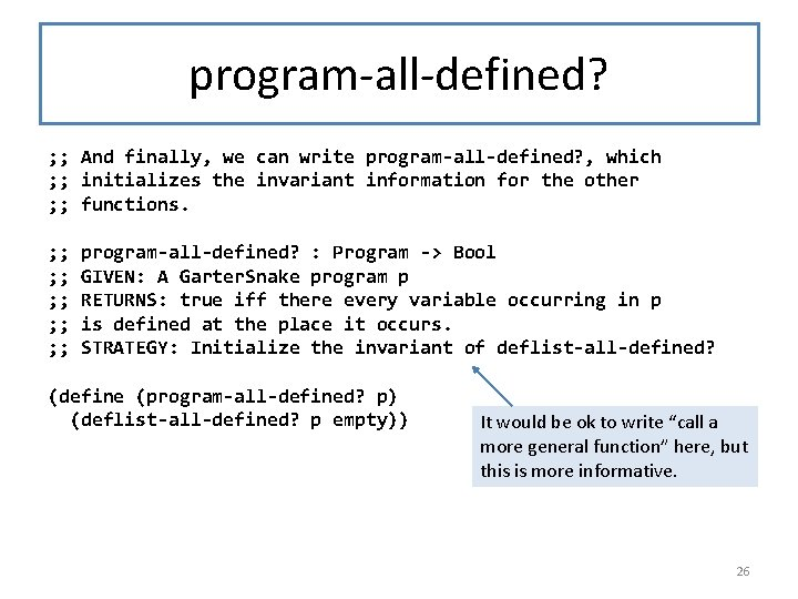 program-all-defined? ; ; And finally, we can write program-all-defined? , which ; ; initializes