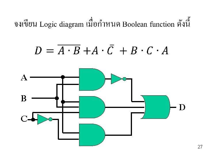 A B C D 27