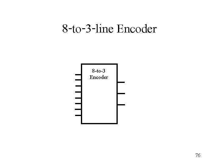 8 -to-3 -line Encoder 8 -to-3 Encoder 76