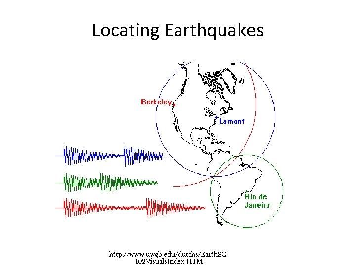 Locating Earthquakes http: //www. uwgb. edu/dutchs/Earth. SC 102 Visuals. Index. HTM