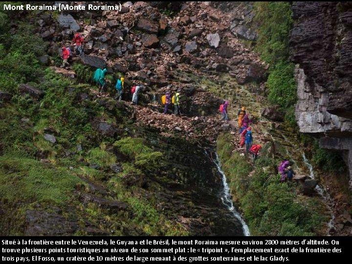 Mont Roraima (Monte Roraima) Situé à la frontière entre le Venezuela, le Guyana et