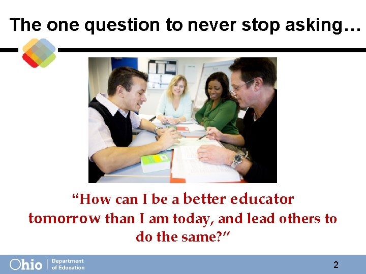 """The one question to never stop asking… """"How can I be a better educator"""