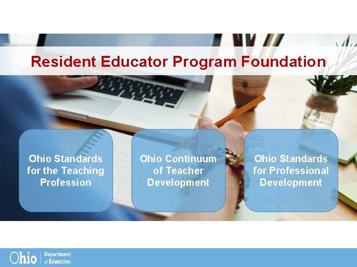 Resident Educator Program Foundation Ohio Standards for the Teaching Profession Ohio Continuum of Teacher