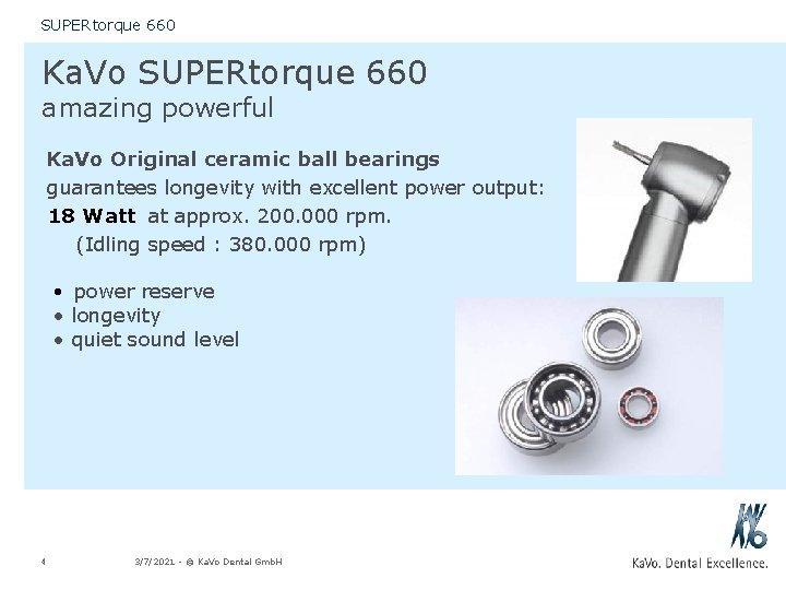 SUPERtorque 660 Ka. Vo SUPERtorque 660 amazing powerful Ka. Vo Original ceramic ball bearings