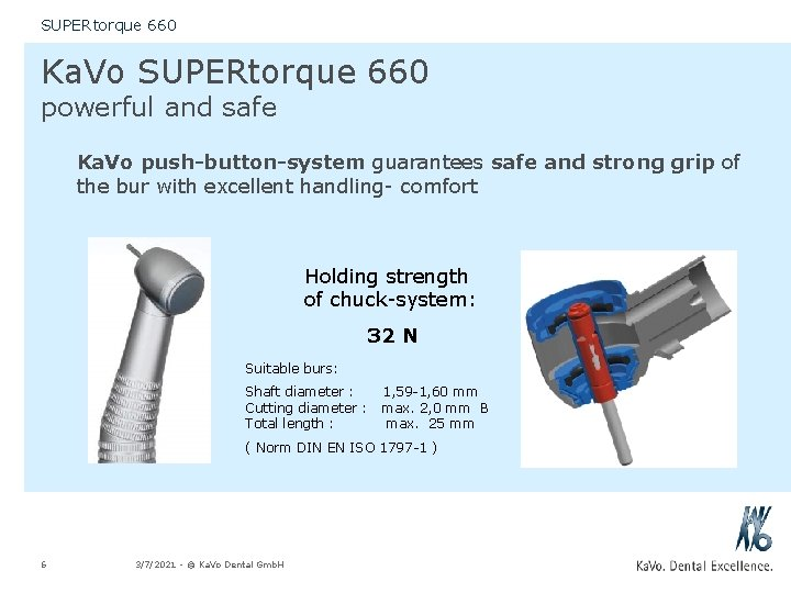 SUPERtorque 660 Ka. Vo SUPERtorque 660 powerful and safe Ka. Vo push-button-system guarantees safe
