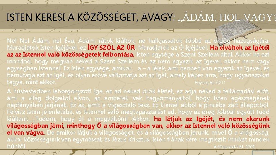 isten keresi az ember)